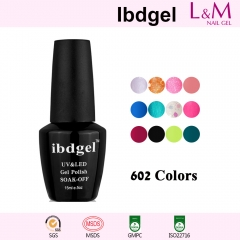 【COLOR GEL】IBDGEL Soak-off UV Gel Nail Polish 602 Colors For Choose